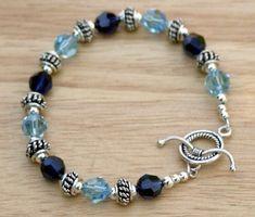 Blue Swarovski Crystal Bracelet Crystal and by SparkleAndSplendor Swarovski Bracelet, Crystal Bracelets, Jewelry Bracelets, Jewelery, Blue Bracelets, Cartier Bracelet, Crystal Jewelry, Swarovski Crystals, Necklaces