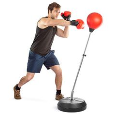 Tech Tools Boxing Ball Set with Punching Ball Boxing Gloves Hand Pump & Adjustable Height Stand Strong Durable Spring Withstands Tough Hits for Stress Relief & Fitness (Adult) Best Punching Bag, Boxing Punching Bag, Kickboxing Bag, Mma Training, Aerobics Workout, Workout Session, Boxing Gloves, Kids Boxing