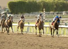 7yo G. Game on Dude makes history by becoming the only horse to win the Santa Anita Handicap 3 times with trainer Bob Baffery(his 5th big cap win). Mike Smith up.
