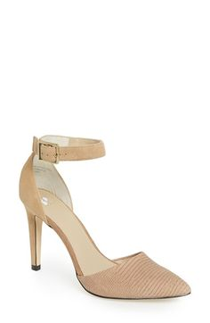 Free shipping and returns on BP. 'Mallory' Ankle Strap Pump at Nordstrom.com. A versatile, elegant pump is cut from a tonal mix of leather and suede with a pointed toe and a bold buckle strap at the ankle.
