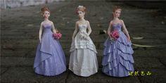 新娘伴娘婚紗禮服新房影樓裝飾擺飾拍照道具純美紫色人物人物擺件-淘寶台灣,萬能的淘寶