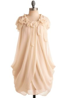 Ivory Rose Dress, #ModCloth.  This is too cute! I hear church bells. Seriously though, I could totally see this beautiful piece as a wonderful vintage-inspired wedding dress. So angelic and unique.