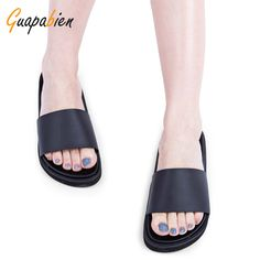 $9.23 (Buy here: https://alitems.com/g/1e8d114494ebda23ff8b16525dc3e8/?i=5&ulp=https%3A%2F%2Fwww.aliexpress.com%2Fitem%2F2016-Women-Summer-Slippers-Casual-Slides-Black-Flat-Sandals-Open-Toe-Slip-On-Ladies-Casual-Flat%2F32766981553.html ) Guapabien 2016 Women Slippers Casual Slides Black Flat Sandals Open Toe Slip On Ladies Casual Flat Beach Shoes Sapatos Feminino for just $9.23