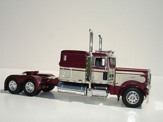 DCP 1/64 Maroon Peterbilt 389 Owner/Operator Truck Tractor Diecast Promotions   eBay
