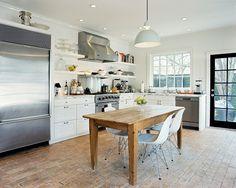Kitchen needs island, love Windows and door