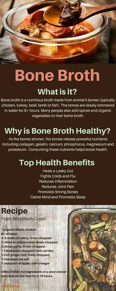 Learn How To Make Bone Broth and Why It's So Healthy For You Food Facts Gut Health Easy Recipe Wellness Tips Soup Recipes, Cooking Recipes, Healthy Recipes, Healthy Soup, Dinner Healthy, Cooking Bacon, Fast Recipes, Healthy Steak, Paleo Soup