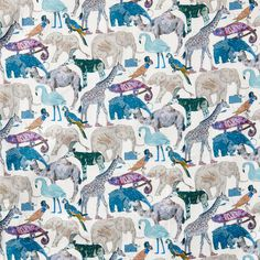 330ce8e526e Liberty print, queue for the zoo D, blue, baby products, Liberty of London  fabric, tana lawn. Homeyness