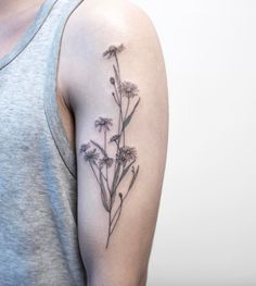 Lovely Chamomile Tattoo