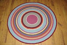 Crochet round rug 417'' 105 cm Made to order by AnuszkaDesign, $105.00