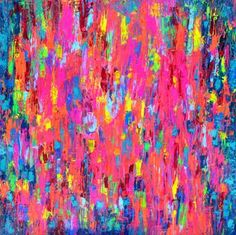 """Saatchi Art Artist Soos Tiberiu; Painting, """"Vibrant Gypsy Skirt - 100x100x4 cm XL Large Modern Abstract Big Painting - Ready to Hang, Office, Hotel and Restaurant Wall Decoration"""" #art"""