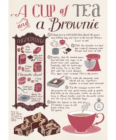 A Cup of Tea by Sara Mulvanny #brownie #recette #recipe