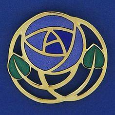 Mackintosh Rose - mosaic pattern for my coasters?