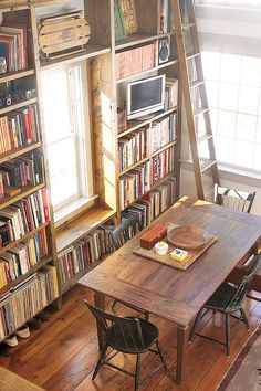 Barn Library- OMG need this in barn, studio, kitchen, livingroom, ANYTHING LOVE