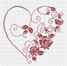 Thrilling Designing Your Own Cross Stitch Embroidery Patterns Ideas. Exhilarating Designing Your Own Cross Stitch Embroidery Patterns Ideas. Cross Stitch Heart, Beaded Cross Stitch, Cross Stitch Borders, Crochet Cross, Cross Stitch Flowers, Cross Stitch Designs, Cross Stitching, Cross Stitch Embroidery, Embroidery Patterns