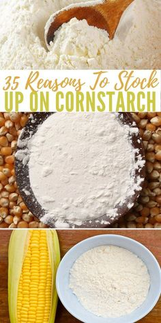 35 Reasons to Stock Up on Cornstarch - preparedness Emergency Preparation, Emergency Food, Survival Food, Homestead Survival, Wilderness Survival, Survival Prepping, Emergency Preparedness, Survival Skills, Survival Hacks