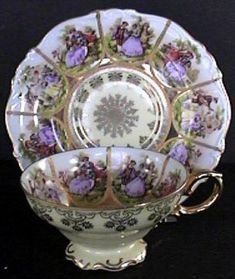 Vintage Made in Germany Tea Cup and Saucer. Very decorative and Pretty