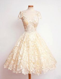 Aurora Cream Lace dress by DestinyChic on Etsy