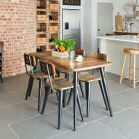 Coastal Chic Reclaimed range by Baumhaus Furniture. Shop online Baumhaus Coastal Chic Reclaimed Wood Furniture at best stockist sale price from CFS UK store Solid Wood Furniture, Industrial Furniture, Dining Room Furniture, Dining Room Table, Dining Chairs, Reclaimed Furniture, Dining Rooms, Kitchen Dining, Extendable Glass Dining Table