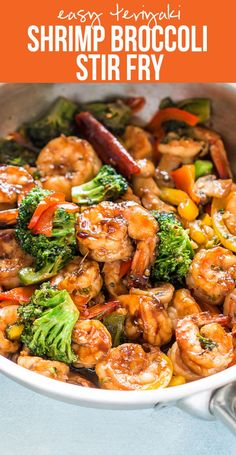Healthy Teriyaki Shrimp Broccoli Stir Fry | Easy Chinese Food | 30 minute dinner recipe | Fried Rice or Lo Mein | Easy Asian Family Dinner  via @my_foodstory (Asian Recipes Lo Mein)