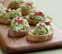 Avocado Crostini :: Recipes :: MyPanera -- can use cream cheese instead of goat cheese