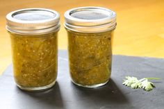 A canning recipe for Tomatillo Salsa Verde! Preserve the harvest with this spicy green salsa and enjoy on tacos or braised beef.
