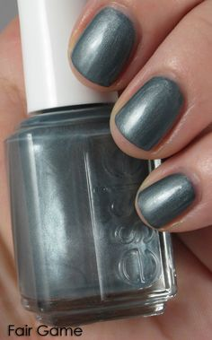 Essie | Fair Game | gunmetal gray with a multicolored shimmer | BN $4
