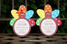 Turkey Thanksgiving Birthday November by palmbeachpolkadots, $2.25