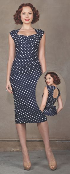 76dc4a9939 Fitted navy polka dot dress with a white hat and wedges. This will be my  derby outfit this year.