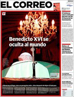 Los Titulares y Portadas de Noticias Destacadas Españolas del 1 de Marzo de 2013 del Diario El Correo ¿Que le parecio esta Portada de este Diario Español?