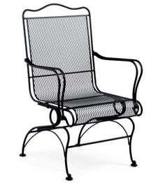 The Woodard Tucson High Back Coil Spring Chair Features Unique Base  Mechanism That Gives The Chair A Gentle Rocking/gliding Motion. Chair Also  Showcases ...