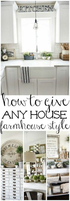 How to incorporate Farmhouse style