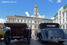 Retro Rolls Royce Parade in Riga.