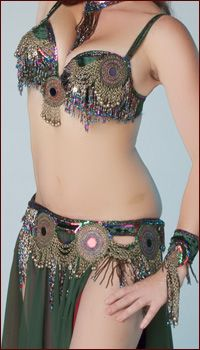 0abeec0508 tie bra and belt together with matching large pieces added on Dance Costumes  For Sale