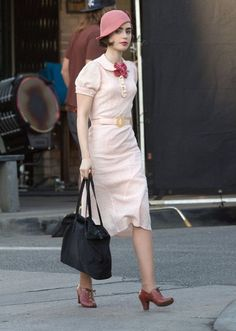 eea2380382cc Lily Collins Photos - Lily Collins and Matt Bomer Perform on the Set of  The