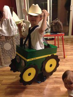 Kade's Halloween costume 2013 Diy-John Deere