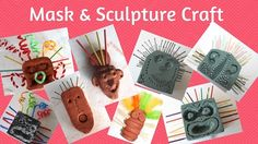 Mask and sculpture art for the classroom inspired by nail art sculptures created by artist Jaime Molina using a variety of resources.
