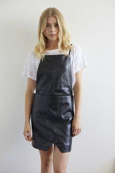 Leather apron dress? Twist my arm!! By Whitney Eve