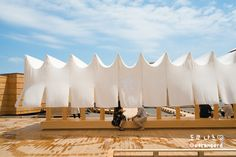 Fabric Structure, Roof Structure, Shade Structure, Cabana, Metal Mesh Screen, Dynamic Architecture, Roof Ceiling, Shade Canopy, Retail Concepts