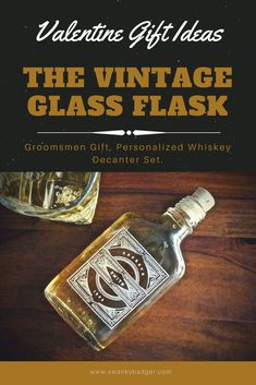 #Groomsmen #Gift, Personalized Hip Flasks.These engraved #whiskeyflasks are the perfect #groomsmengift. Personalized with the name of your choice, this custom #hipflask will be displayed with pride for years to come. It's also a great #gift for, #boyfriends, #husbands and #fathers alike.Each hip flask is topped with a cork stopper and holds 200ml of your finest malted beverage.  #giftsforhim #valentine #valentinegifts