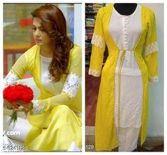Indian Fashion Dresses, Indian Designer Outfits, Designer Dresses, Fashion Outfits, Dress Fashion, Diy Fashion, Kurti Designs Party Wear, Kurta Designs, Pakistani Dress Design