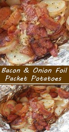Bacon Recipes, Side Dish Recipes, Grilling Recipes, Vegetable Recipes, Appetizer Recipes, Cooking Recipes, Appetizers, Yummy Recipes, Foil Pack Meals