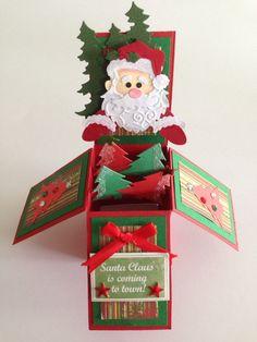 Handmade christmas pop up box card