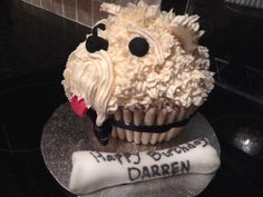 Giant cupcake - its a dogs dinner.