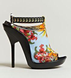 Givenchy Women's Printed Open Toe Stilettos
