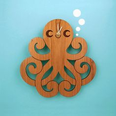 Octopus Clock - Cherry