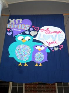 cute chi omega banner ;) could defs make this into a big/little craft!