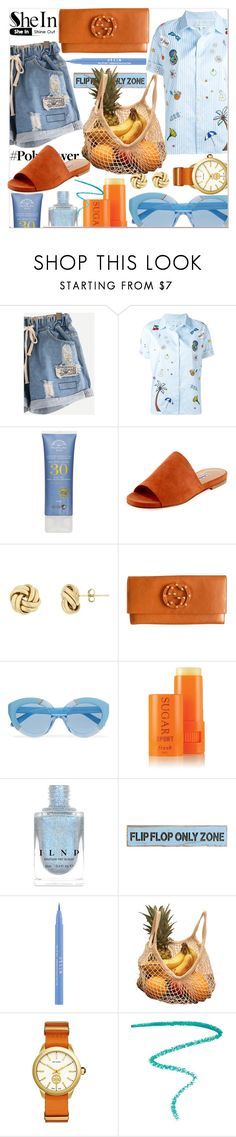 """summer fruits"" by ztugceuslu ❤ liked on Polyvore featuring Mira Mikati, Charles David, Gucci, Karen Walker, Fresh, Carson, Stila, Tory Burch and Marc Jacobs"