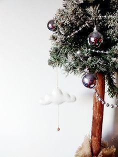 Mini Cloud + Bell | Christmas | Gift | Baby | Kids | Nursery | Decor by CloudishHandmade on Etsy