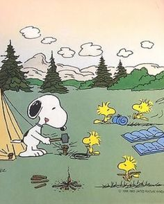 Camping Snoopy