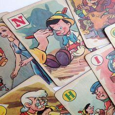Pinocchio 1930s vintage game from vintagecuriosityshop